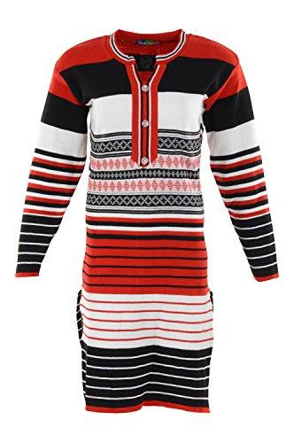 Ansh Fashions Women's Regular Fit Woollen Kurta (Multi-Coloured)