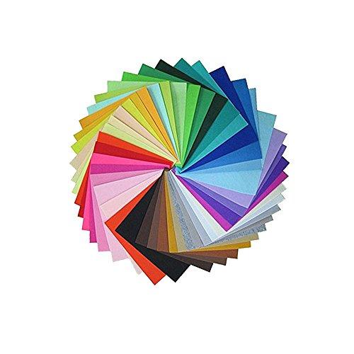 Mumuxi Multicolore Filz Stoff DIY Handwerk Quadrate Nonwoven 20 * 30cm Bastelfilz 42 Farben