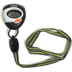 Cosmo 02070 Stoppuhr Stopp Uhr Kunststoff 30m Digital Datum Alarm Timer schwarz