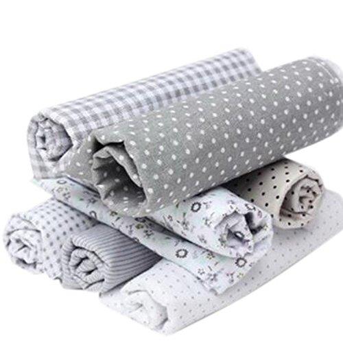Souarts gris algodón Craft Tela cuadrados Patchwork DIY costura y manualidades colchas de lunares Artcraft