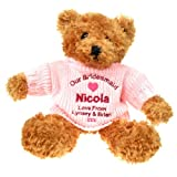 Personalised Bridesmaid Gift Ideas, Bridesmaid Brown Teddy Bear, Special Bridesmaid gift idea