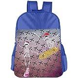 Skeleton With Skateboard Jumping Kids School Shoulder Backpack Bag Children Bookbag