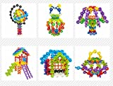 Scrox 500pcs Snowflakes Building Blocks Multicolor Reusable Toys Connect Interlocking Disc Puzzle Building Cubes Educational Toys Great Imagination Toy Building Blocks Link Toys for Child 3-10 Years