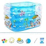 Famille Bain gonflable Spa Piscine Épaissir pliant Portable Bébé Piscine de jeu...