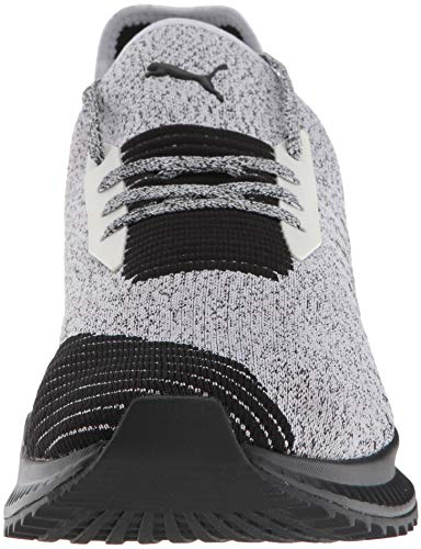 PUMA Men s Avid Evoknit Sneaker  White Black  9 5 M US