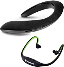 Elevea Neckband SoundGear Bluetooth Speaker with Bs19C Bluetooth Sporty Headset for All Smartphones