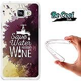 BeCool® Fun - Coque Etui Housse en GEL Flex Silicone TPU Samsung Galaxy A5 2016 , protège et s'adapte a la perfection a ton Smartphone et avec notre design exclusif.Bois du vin