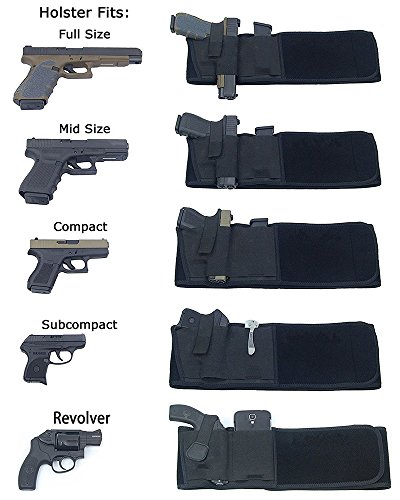 hothuimin Ultimate Belly Band Holster for Concealed Carry | Fits Gun Smith  and Wesson Bodyguard, Glock 19, 17, 42, 43, P238, Ruger LCP, and Similar
