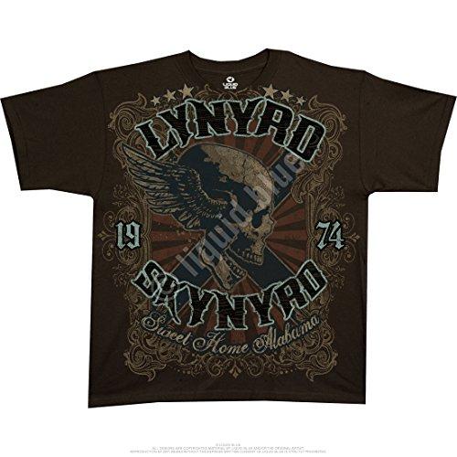 Sweet Home Alabama Lynyrd Skynyrd licenza ufficiale da uomo maglietta Brown S