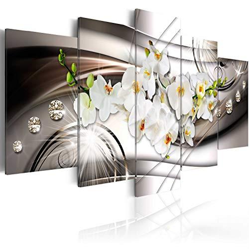 murando - Acrylglasbild Abstrakt 100x50 cm - 5 Teilig - Bilder Wandbild - modern - Decoration - Blumen Orchidee Diamant b-A-0238-k-n