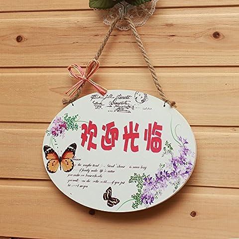 KXZZY Home decorazioni soprammobili , il tono del grazioso ovale / Benvenuti a tornare presto (fronte/retro)