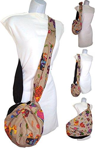 Umhängetasche. Elefanten Eine modische kleine Tasche. das wird RIESIG. Sparen Sie Hunderte von Plastiktüten. Mehrzweck Waschbar
