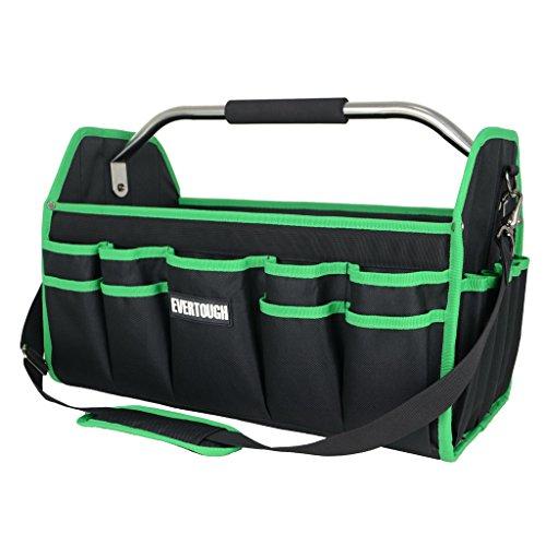 D DOLITY Große Werkzeugtasche Elektriker mit verstärkter Kunststoffboden und verstellbarer Schultergurt, stahlverstärkt Rahmen, 41 x 23 x 27 cm