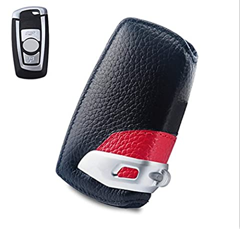 Happyit Auto echtes Leder Smart Key Cover Fall für BMW F10 F20 F30 NEU 1 2 3 4 5 6 7 Serie X3 X4 320I 116I 118I 328I 530I Fernbedienung Zubehör (Benutzerdefinierte Body Art)