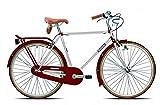 Legnano 28 Zoll Herren Holland Fahrrad Vintage, Rahmengröße:54cm, Farbe:weiß-Bordeaux