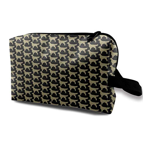 Golden Retriever Silhouette Travel Storage Bag Cosmetic Bag Beauty Case Buggy Bag -