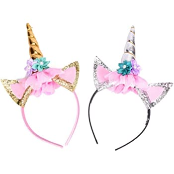 WENTS 18th Birthday Hairband 4PCS Happy Birthday Hairband with Feathers and Stars for 18th Birthday Gift Party Accessories