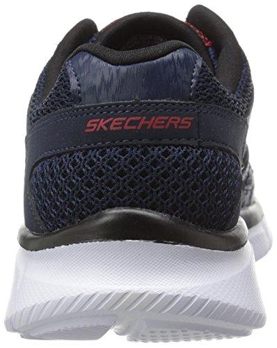 Skechers Boys' Equalizer Leder Turnschuhe Blau (Marineblau)