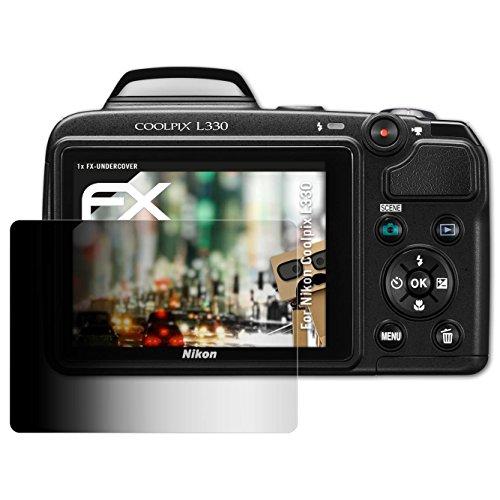 ilter für Nikon Coolpix L330 Blickschutzfolie - FX-Undercover 4-Wege Sichtschutz Displayschutzfolie (Nikon Coolpix L330-kamera)