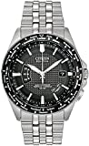 Citizen Men's Eco-Drive Watch with Black Dial Analogue Display and Stainless Steel Bracelet, CB0020-50E