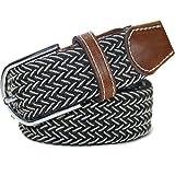 LUFA 120cm Mix caoutchouc couleur Stretch Ceinture en alliage Ardillon tissé ceinture pour hommes / femmesJ03