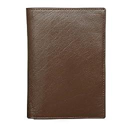 Style98 Brown 100% Genuine Leather Unisex Travel Passport Wallet||Passport Case||Credit/Debit Card Holder||Card Case||Pocket Wallet||Buisness Card Case