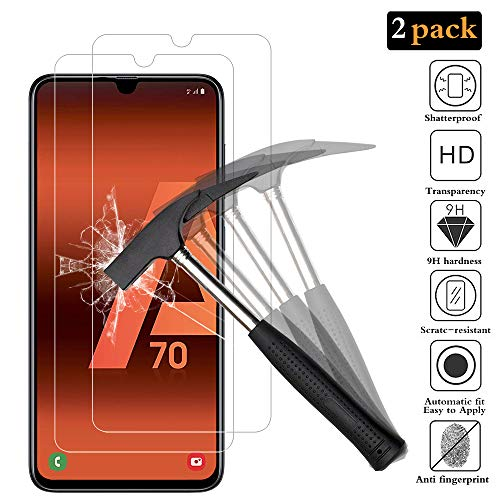 ANEWSIR for Samsung Galaxy A70 Screen Protector with【2-Pack】[Lifetime Replacements Warranty] [Bubbles Free] [Easy to Apply] [Ultra-thin] tempered glass screen protector for Samsung Galaxy A70