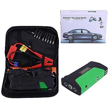 51yC604Q%2BPL. SS416  - Cnmodle - Batería de emergencia y arrancador portátil para coche, 400 A, 15000 mAh, batería externa con linterna de 3 LED, y USB doble para cargar el móvil, para iPhone, Samsung, iPad, Tablet, Sony, MP3 / MP4 y más