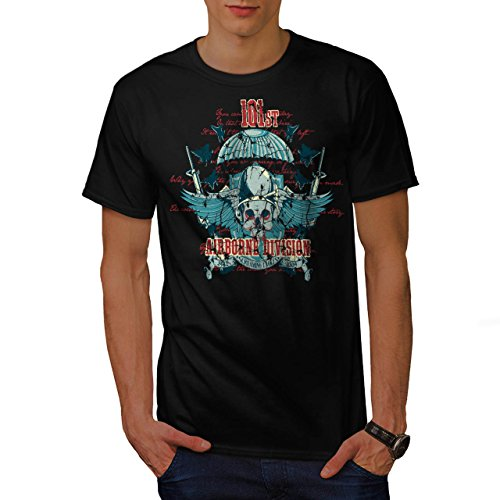 Airborne Aufteilung Schädel Krieg Flug Herren S T-shirt | Wellcoda (Airborne Dunklen T-shirt)