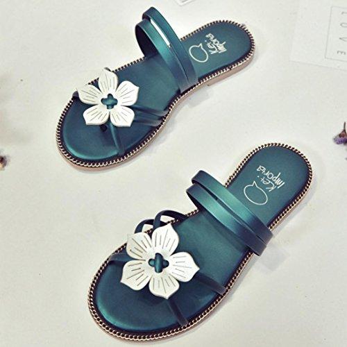 Pistone Verde Casuali Fiore ® Della Moda Sandali Sandali Bohemien Donne Spiaggia Transer Di BzTgfTq