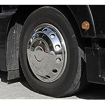Camiones Tapacubos 22,5 – abombada de acero inoxidable para la eje delantero –
