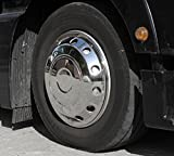 'Camiones Tapacubos 22,5–abombada de acero inoxidable para la eje delantero–Man...