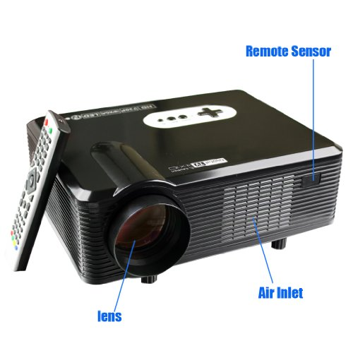 For Sale CL720D DVB-T Projector Home Theater Native 720p support 1080p Led projector Digital TV Black Online
