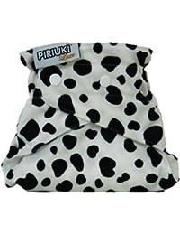 Piriuki, panal del pano, reutilizable, un tamano, White (Dalmatian (negro