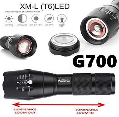 Tongshi G700 Linterna táctica LED militar Lumitact Alonefire [Clase de eficiencia energética...