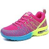Solshine Damen Schnür Fitness Laufschuhe Sneakers Turnschuhe Low Top Pink3 39EU