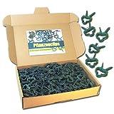 MGS SHOP Pflanzenclips 100 Stück stabile Clips Pflanzenklammern für kleine & große Triebe Spaliere Rosenbögen Rankhilfen (100er-Set KLEIN)