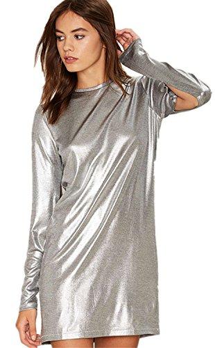 sexy-glanzend-metallische-silber-schlitz-armel-mini-minikleid-shift-boxy-gerade-kleid-s
