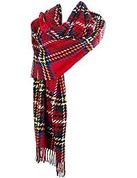 Edinburgh 100% Lambswool Enlarged Twill Vintage Stewart Tartan Stole
