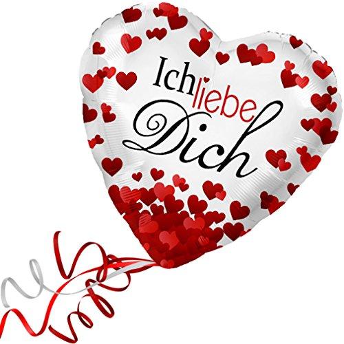 > > > Fertig Heliumbefüllt < < < Folienballon großes Herz rote Herzen Ich liebe Dich Ballon mit Helium/Ballongas gefüllt Liebe Heiratsantrag Valentinstag von Haus der Herzen® (Ich Liebe Dich-ballon)