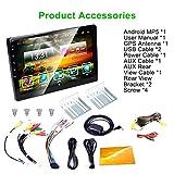 Dinapy Auto Stereo Bluetooth Touchscreen MP5 Player, 10,1 Zoll 1024600 HD Auto Video Stereo Video Player, GPS-Navigator, Unterstützung 12V FM Radio, Mirror...