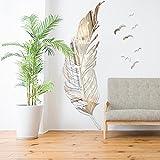 GOUZI Kreative Federbett sofa Wand zimmer Kindergarten Kinder. 3DSolid Acryl wand Wandaufkleber abnehmbare Wall Sticker für Schlafzimmer Wohnzimmer Hintergrund Wand Bad Studie Friseur montieren