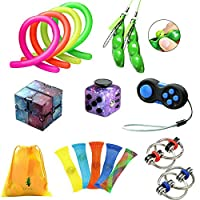 ZCOINS Fidget Toy Fidget Dice Infinity Cube Flippy Chain Peapod Marble Fidget Stretchy Band