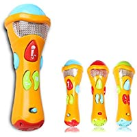 Cisixin Música de juguete para Niños - Microphone Juguetes Karaoke grabable, Micrófono Canta y Aprende Grabación