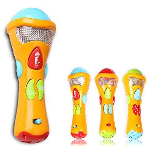 Cisixin Kids Music Karaoke Microphone Toys Microphone Kids Toys Electronic Karaoke Musical Microphone for Children