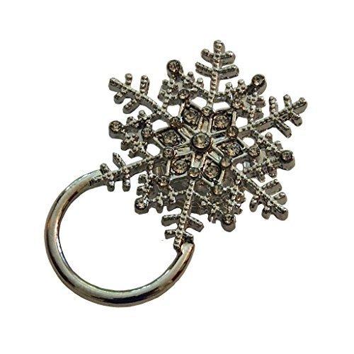 Joli clip magnétique très utile, pour les lunettes de soleil, de vue, de lecture ou pour badges d'identification - flocon de neige