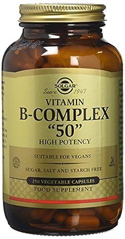 Solgar High Potency Vitamin B-Complex Vegetable Capsules - 250 Capsules