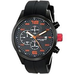 Red Line Herren-Armbanduhr 47mm Armband Silikon Schwarz Gehäuse Edelstahl Quarz Analog RL-50042-01OR