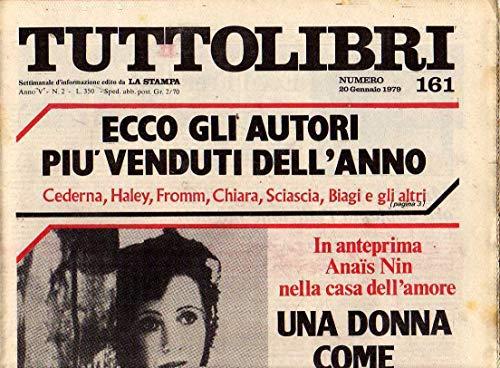 Tuttolibri n. 161 del Gennaio 1979 Mengaldo, Anais Nin, Freud, Musatti