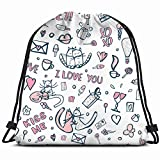 Not Only A Drawstring Bag, But Also A Fashion LifestyleWith waterproof Polyester and additional internal zipper pocket to put small items, you can use as dance bag,outdoor sports backpack or yoga gym bag which will make you look so special !Features:...